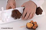 """Набор для мороженого """"лапка"""" Silikomart (89х84x24 мм, 2 формы, 50 палочек), фото 2"""