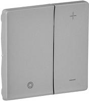 Лицевая панель светорегулятора нажимного для всех типов ламп алюминий 754892 Legrand Valena Life