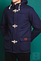 Куртка весенняя, осенняя, демисезонная парка до -2, мужская, синяя, Супер качество!