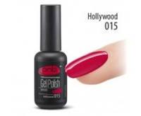 Гель-лак PNB №015 Hollywood (классический красный, эмаль), 8 мл