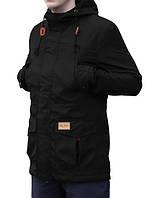 Куртка весенняя, осенняя, демисезонная парка до 0 °С, мужская, черная, Супер качество!