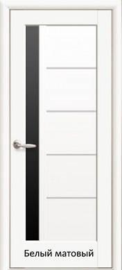 "Двери Грета стекло черное пленка пвх ""De Luxe"""