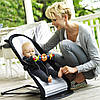 Кресло-шезлонг BabyBjorn Balance Soft Black/Grey+игрушка, фото 6
