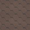 Битумная черепица Shinglas Кадриль Соната Агат (коричневая)