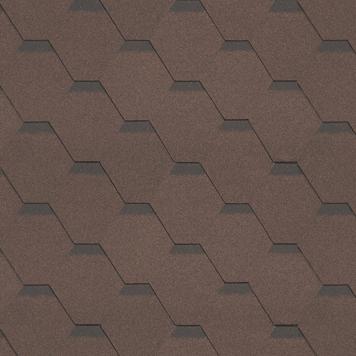 Битумная черепица Shinglas Кадриль Соната Агат (коричневая), фото 2