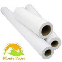 Бумага газетная для плоттеров 52г/м 840мм (А0) х 80м