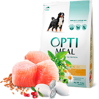Optimeal (Оптимил) беззерновой корм для взрослых собак всех  пород (УТКА и ОВОЩИ) 10 кг