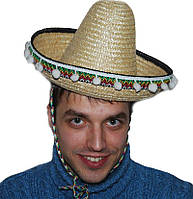 Шляпа сомбреро соломенная 35 170216-399