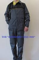Костюм рабочий  «Стандарт» (п/к+куртка), темно-серый с чорным. Спецодежда., фото 1