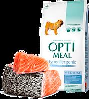 Optimeal (Оптимил) гипоаллергенный для средних пород (ЛОСОСЬ) 4кг