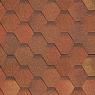 Битумная черепица Shinglas Кадриль Соната Яшма (красно-коричневая)