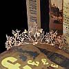 Диадема свадебная Лея, Весiльна дiадема, весiльна бiжутерiя Украшения для волос аксессуары, фото 5