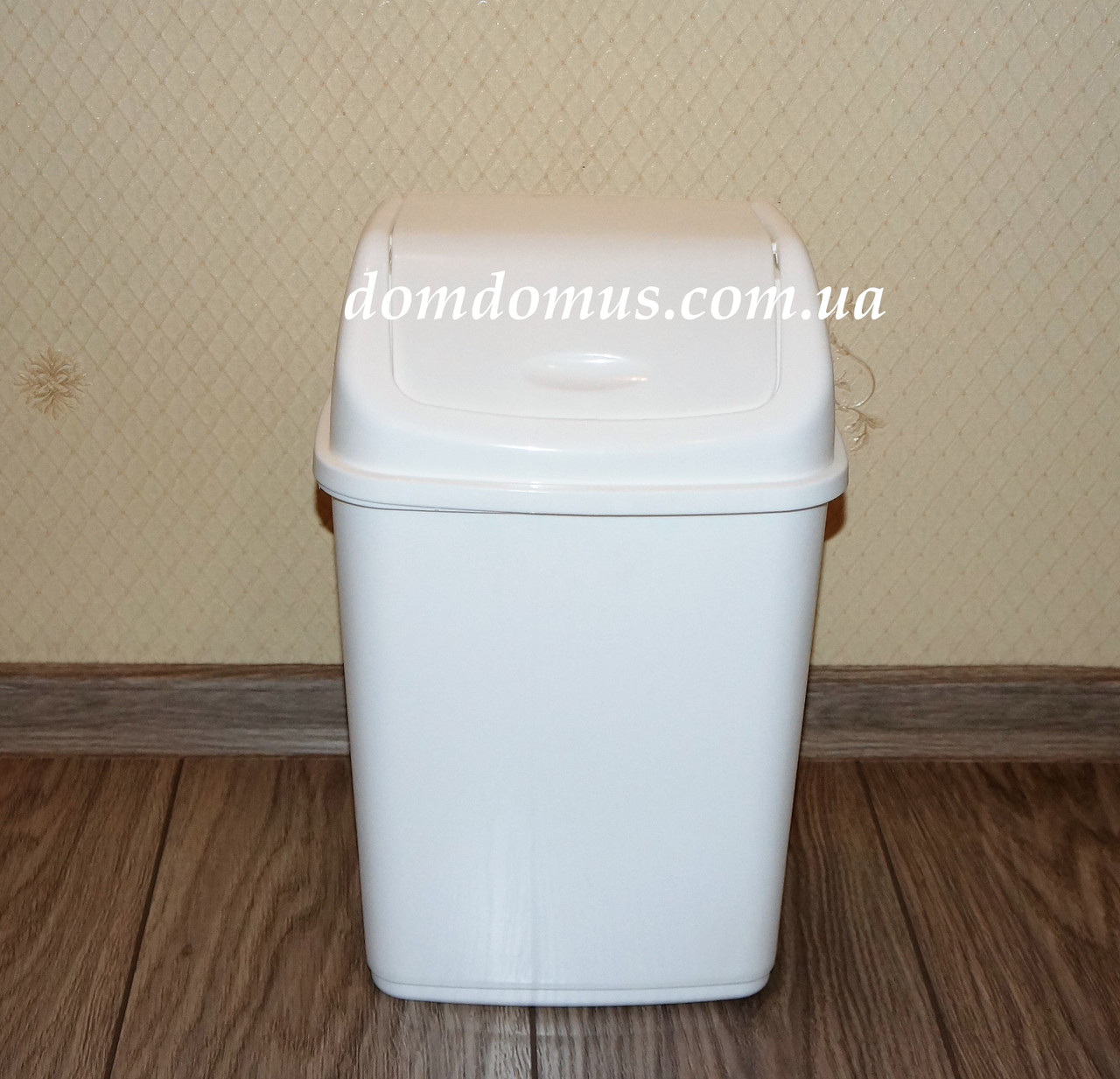 Ведро для мусора с поворотной крышкой 5 л  Алеана