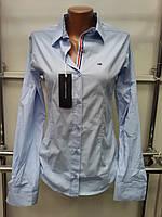 Стильная женская рубашка Th 85 голубого цвета S