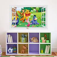 Наклейка виниловая Пейзаж Винни Пух и друзья 3D декор