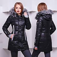 Зимняя женская куртка с капюшономCH 77907