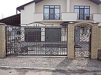 Ворота откатные кованные