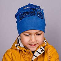 """Демисезонная трикотажная шапка для мальчика """"NATURE ZONE"""""""