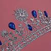Диадема свадебная Тиара Жасмин синяя корона для волос Виктория тиара синяя диадемы, фото 7