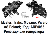 Реле зарядки Renault Trafic 2.5 DCi (Рено Трафик). Регулятор напряжения генератора. ARE0063 - AS PL.