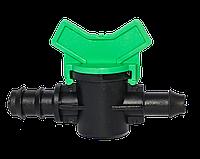 Кран 16 мм стартовый с резинкой для садовой трубы SL-011-3