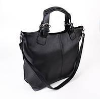 Модная черная сумка женский фигурный шоппер