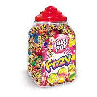 Леденцы на палочке газированные шарики Fizzy 100 штук