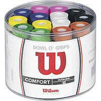Намотки для тенниса, сквоша, бадминтона Wilson Bowl Overgrips (50 намоток)