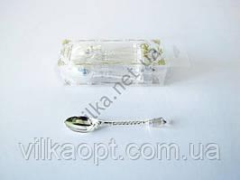 Ложки пластмассовые в наборе из 12 шт. венецианские кофейные, цвет серебро L 10,5 cm