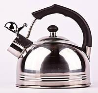 Чайник для газовой плиты Underprice, 2,6 литра, нержавеющая сталь, свисток