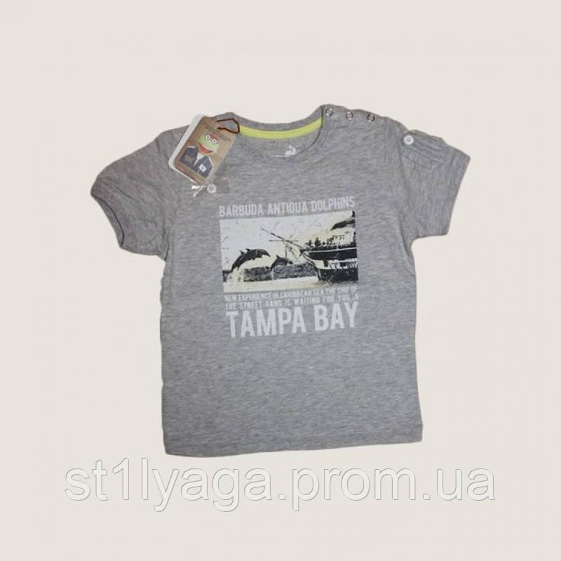 Tampa Bay футболка для мальчика в цвете серый меланж