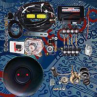 Комплект Stag-300 Qmax plus 8, редуктор KME Gold, форсунки Hana, фильтр. Баллон тороидальный 53л+Мульт
