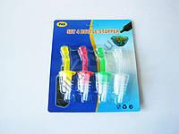 Пробка пластмассовая в наборе из 4-х с дозатором - 10 см.