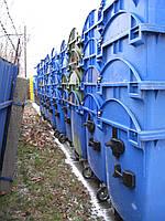 Пластиковые контейнеры 1100 литров б.у.