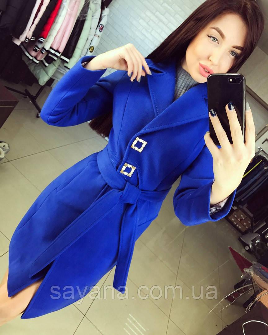 """Женское кашемировое пальто """"Donna"""" в расцветках. Т-4-0117"""