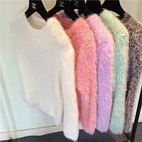 Свитер женский пушистый модный много цветов ,стильные кофты