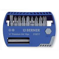 Набор бит 1/4 '' 10 шт. с магнитным держателем для бит, в пластиковом кейсе. (LS, PH, PZD)