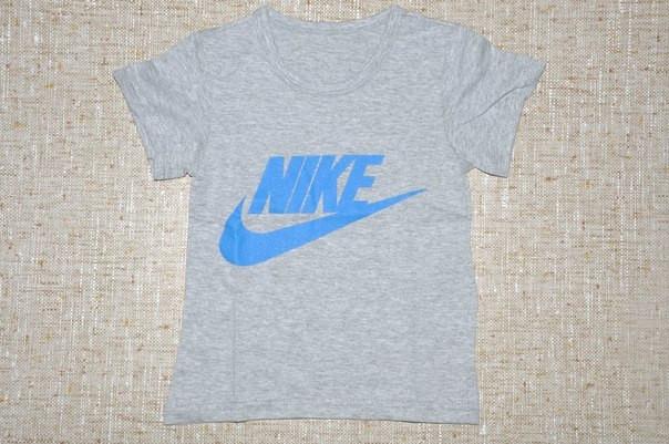 d71a6096 Футболка для Мальчика в стиле Nike Серая Рост 116 см - купить по ...