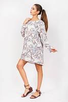 Платье-туника с длинным рукавом