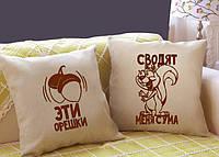 """Набор из двух подушек """"Орешки"""" №62"""