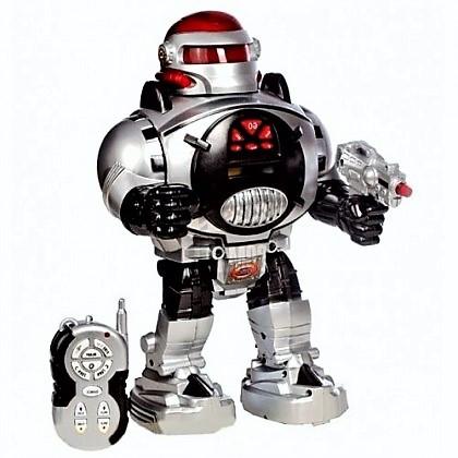 """Робот М 0465 U/R """"Космический воин"""", радиоуправление, стреляет дисками, свет, звук, танцует, бластер."""