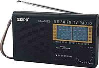 Портативный приемник KB-AC833 KIPO: аналоговый тип тюнера, широкий диапазон частот