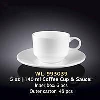 Чашка кофейная с блюдцем (Wilmax, Вилмакс, Вілмакс) WL-993039