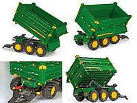 Прицеп 3х осевой  Rolly Toys rollyMulti Trailer John Deere зеленый