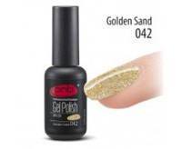 Гель-лак PNB №042 Golden Sand (прозрачный с золотистыми голографическими блёстками)