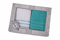 Набор полотенец лицевых AQUA (50*100 бирюзовый) 2 шт
