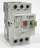Автомат пуска / защиты двигателя 3-х фазный, уставка 6-10А, 25А, 100кА теплушка, фото 1