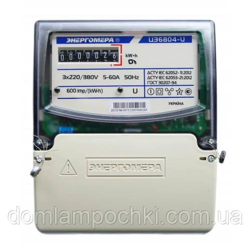Электросчетчик трехфазный Энергомера ЦЭ6804-U/1 220В 5-60А 3ф. 4пр. МР32