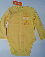 Боди Для малышей 92 см 1,5 года  Желтый 01059101137 БД59ас Бэмби Украина