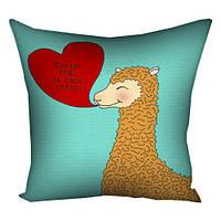 Подушка подарок День Валентина с принтом Любовь
